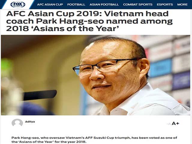 HLV Park Hang Seo nhận quà đặc biệt, hay nhất châu Á 2018