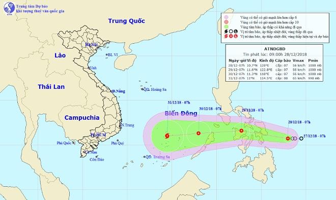 Áp thấp nhiệt đới giật cấp 9 hướng vào Biển Đông, khả năng mạnh lên thành bão - 1