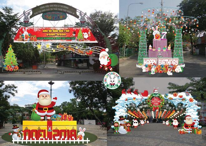 Giáng sinh lung linh sắc màu tại khu vui chơi Thỏ Trắng - 1