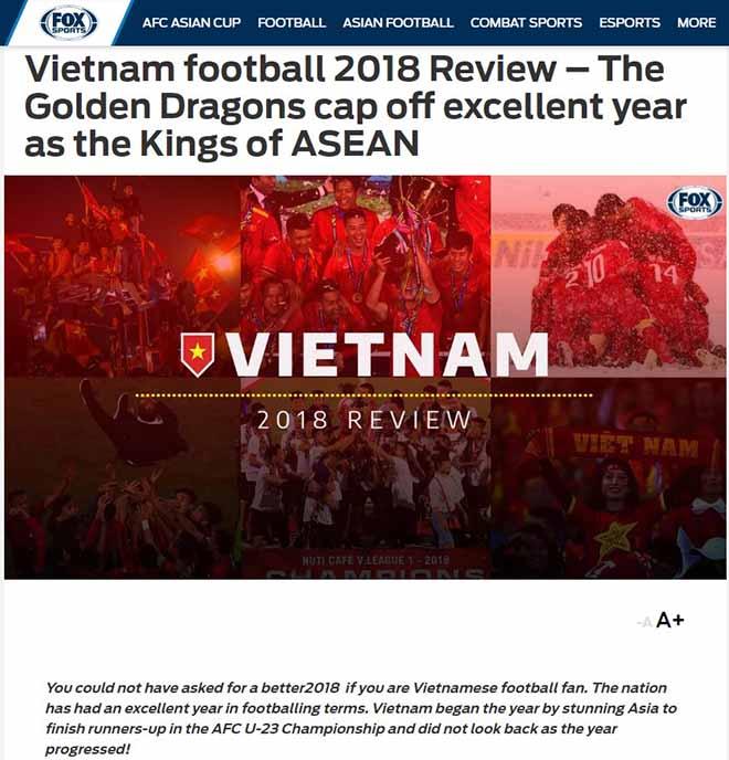 """ĐT Việt Nam dự Asian Cup: Báo châu Á ca ngợi năm chói lọi của """"Rồng vàng"""" - 1"""