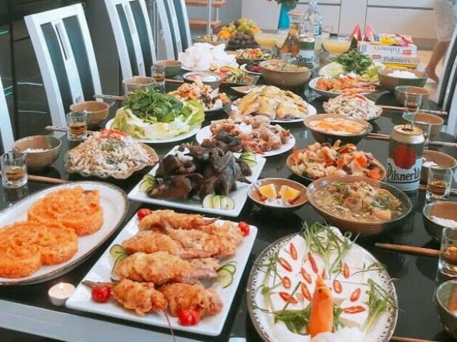 Thực đơn cho bữa tiệc sum họp gia đình, bạn bè dịp tết dương lịch