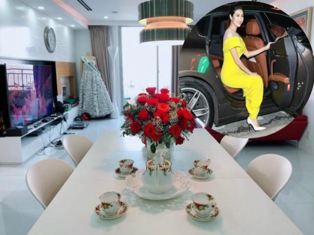 """25 tuổi, Á hậu là MC """"Thương vụ bạc tỷ"""" đi xe 8 tỷ, ở penthouse rộng thênh thang"""