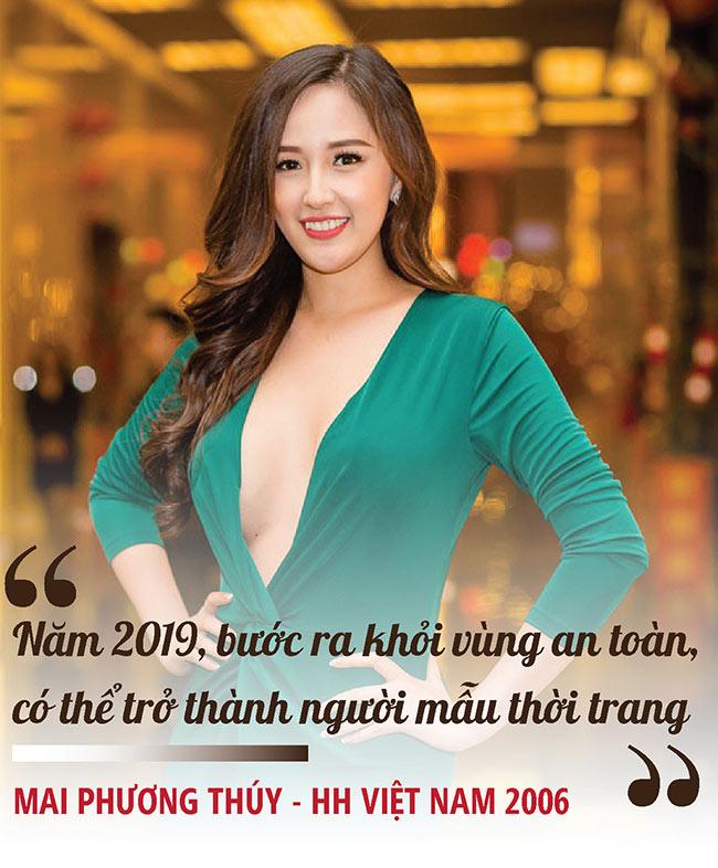 Trước thềm năm mới 2019, Mai Phương Thúy có chia sẻ ngắn về những dự định kế hoạch và nàng hoa hậu 2006 quyết tâm bước chân ra khỏi vùng an toàn để thử thách bản thân.