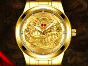 Độc đáo chế tác tinh xảo mẫu đồng hồ Thụy Sỹ Rồng Vàng
