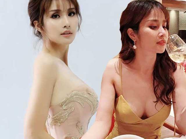 Vợ cũ Phan Thanh Bình bỗng hao gầy tới hốc hác, dáng lá liễu nhưng vòng 1 vẫn đầy