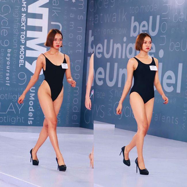 Thí sinh Vietnam's Next Top Model bị giám khảo bắt thay đồ quá hở. Thí sinh này chọn chiếc áo tắm khoét hông cao ngút để có đôi chân thon dài nhưng bất ngờ bị giám khảo phản ứng.