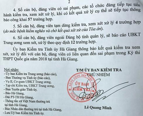 Danh sách 151 cán bộ, đảng viên Hà Giang liên quan đến sai phạm trong Kỳ thi THPT - 2