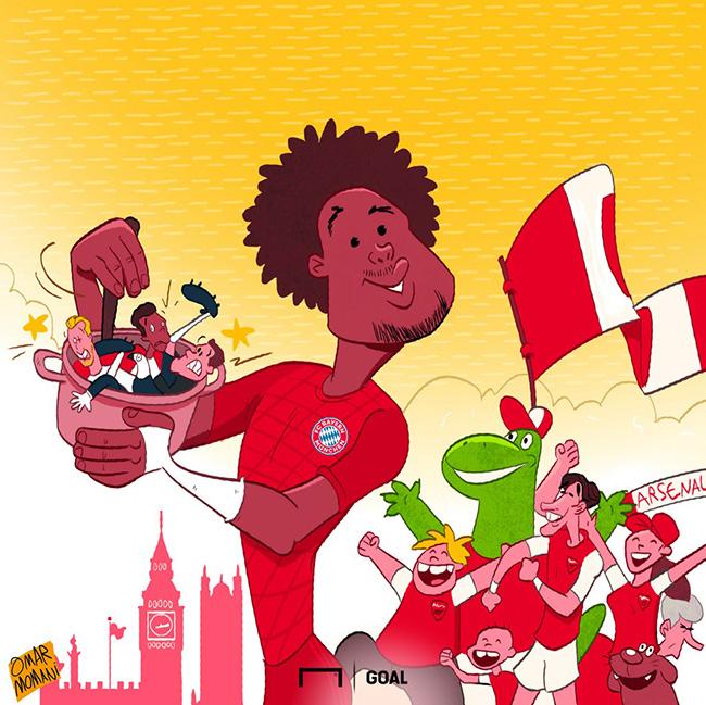 """Gnabry giúp Bayern Munich nấu nồi """"lẩu gà"""" siêu to khổng lồ."""