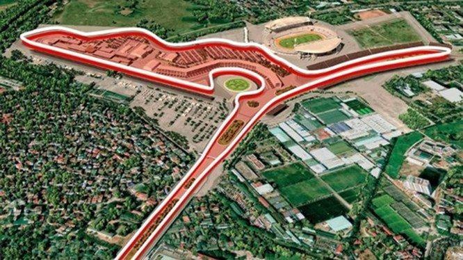 Hà Nội cấm nhiều tuyến phố để thi công đường đua F1 - 1