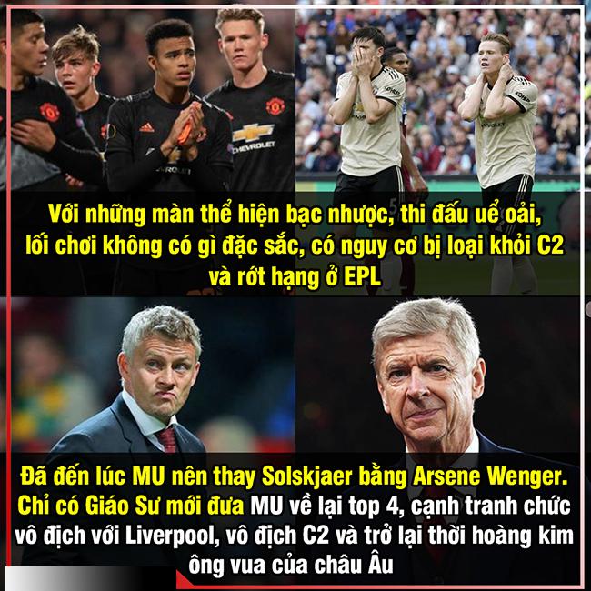 Liệu có nên mời Asene Wenger về dẫn dắt MU.