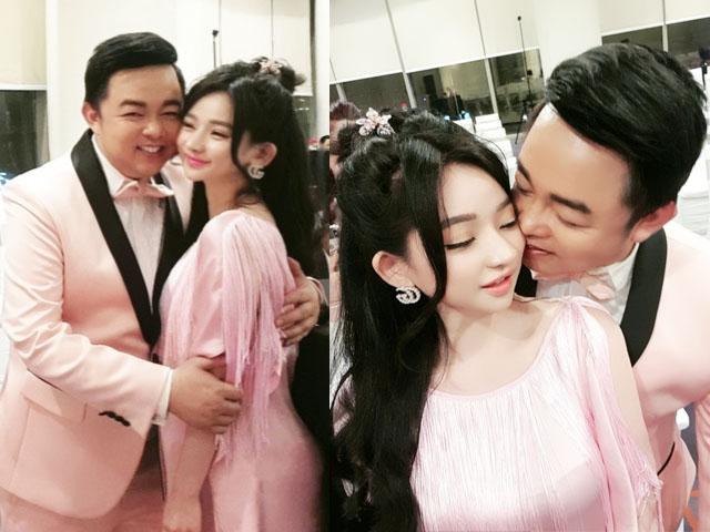 Hot girl nóng bỏng Quang Lê ôm hôn công khai giữa chốn đông người là ai?