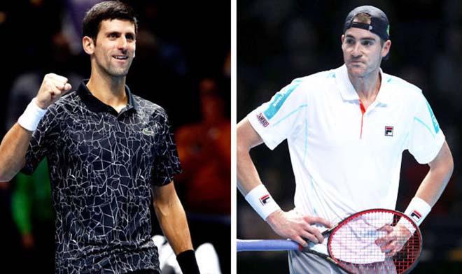 Video, kết quả tennis Djokovic - Isner: 76 phút kịch chiến, game 12 nghẹt thở - 1