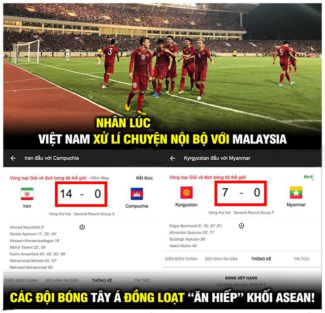 """Ảnh chế: Việt Nam thắng trận, các đội Đông Nam Á bị """"bắt nạt"""" - 1"""