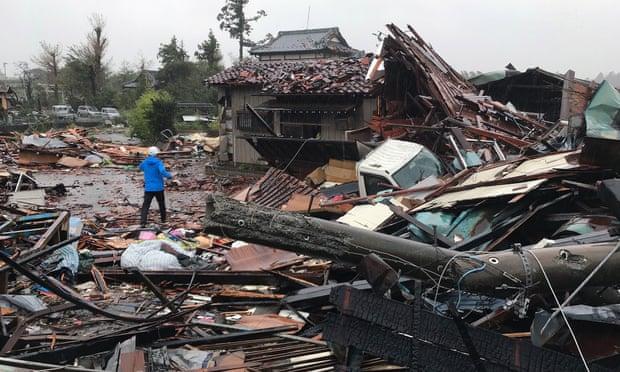 Nhật Bản tan hoang do siêu bão mạnh nhất 6 thập kỷ, hơn 7 triệu người bị ảnh hưởng - 1