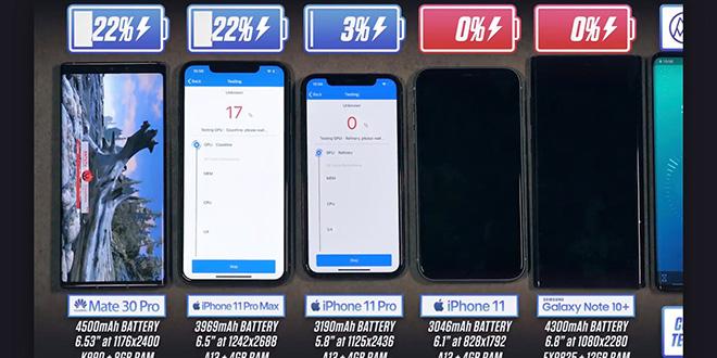 Thời lượng pin iPhone 11 Pro Max đè bẹp các điện thoại Android hàng đầu - 1