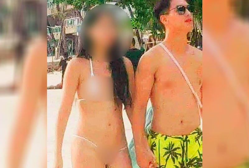 Philippines: Nữ du khách xinh đẹp diện bikini siêu nhỏ gây tranh cãi - 1