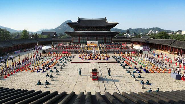 Geunjeongjeon, Gyeongbokgung: Các cuộc họp quan trọng của quốc gia đã từng được tiến hành tại điện Geunjeongjeon thuộc cung điện Gyeongbokgung ở Jongno-gu, Seoul.