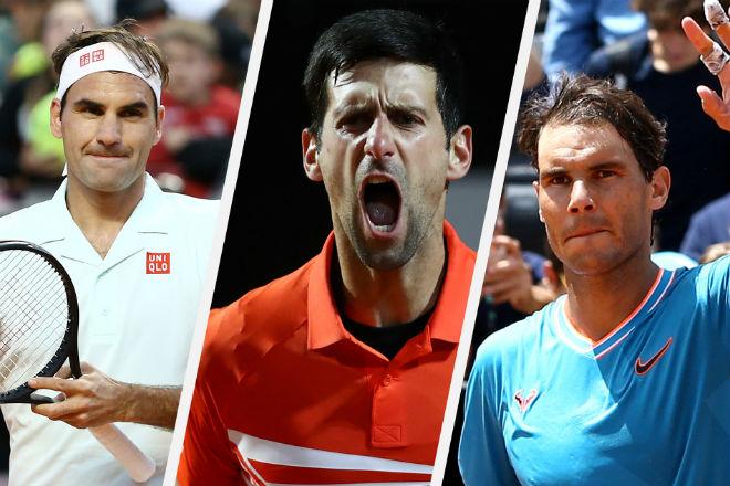 """Federer, Nadal bị Djokovic """"điểm huyệt"""" sức mạnh: So tài ở đâu cuối năm? - 1"""