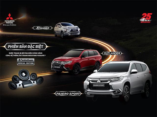 Mitsubishi ra mắt phiên bản đặc biệt cho 3 dòng xe Pajero Sport, Outlander và Xpander