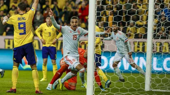 Video highlight trận Thụy Điển - Tây Ban Nha: Vỡ òa bàn thắng phút bù giờ - 1