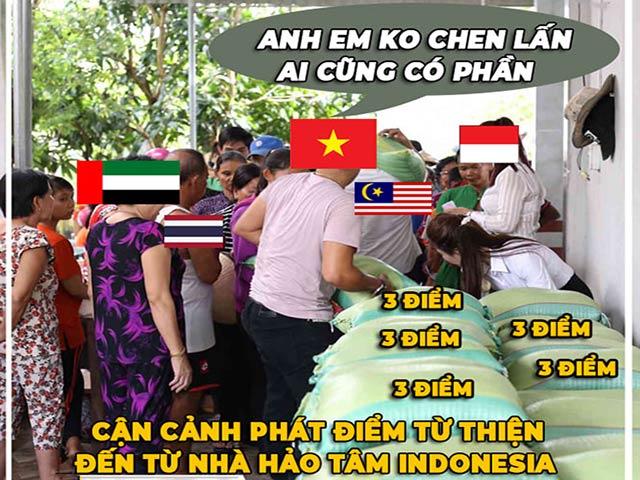 """Ảnh chế: Thua Việt Nam, Indonesia mở """"kho điểm"""" tại vòng loại World Cup 2022"""