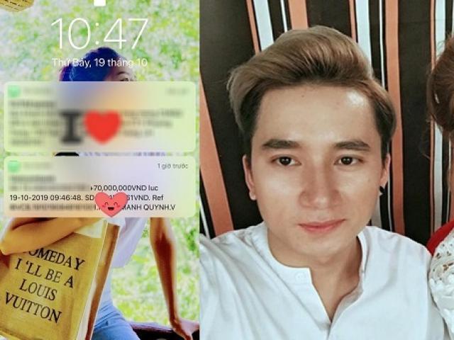 """Phan Mạnh Quỳnh chuyển khoản số tiền """"khủng"""" làm quà tặng bạn gái dịp 20.10"""