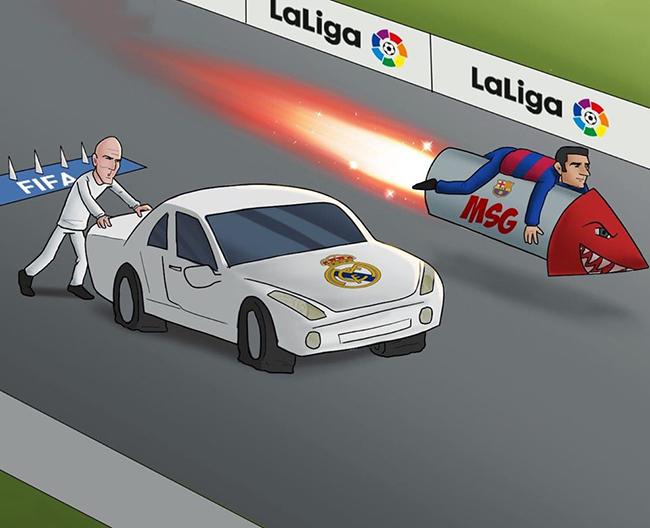 Barca đang tăng tốc với tam tấu MSG, trong khi Real tụt lại phía sau.