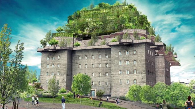 Pháo đài của Đức quốc xã sắp biến thành khách sạn xa xỉ với vườn treo 5 tầng - 1