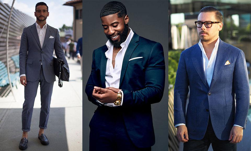 Mặc veston không cà vạt: Phong cách tăng nét sexy cho các chàng - 1