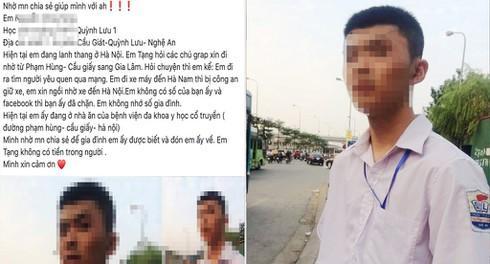 """Nam sinh Nghệ An đi xe máy 200km ra Hà Nội để tìm """"bạn gái"""" - 1"""