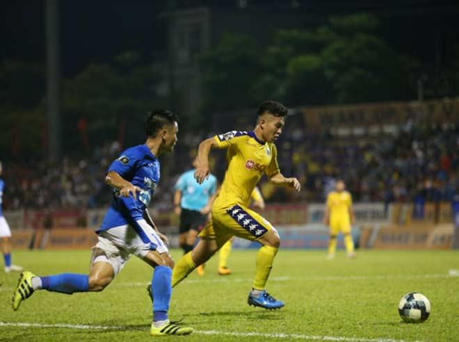 Video highlight trận Quảng Ninh - Hà Nội: Đại tiệc 6 bàn, cả làng cùng vui (Vòng 26 V-League) - 1