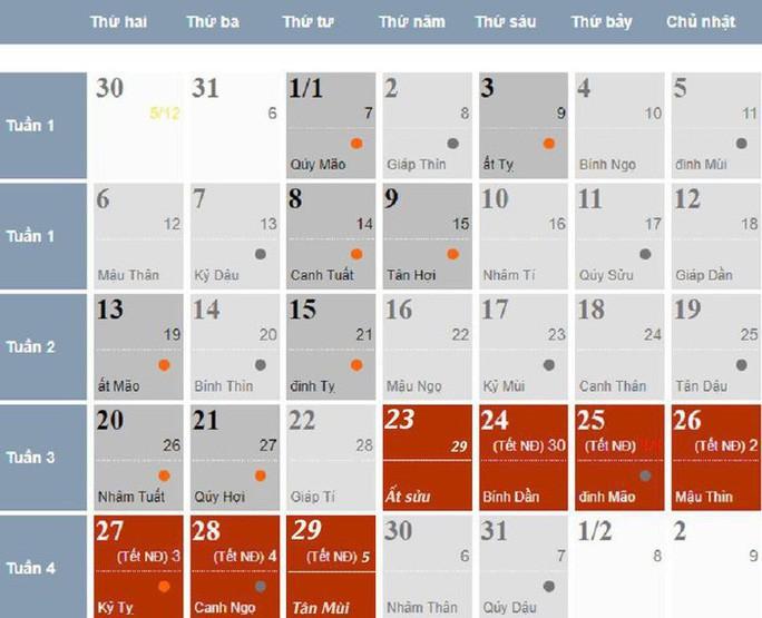 Chính thức ban hành lịch nghỉ Tết Nguyên đán Canh Tý 2020 - 1