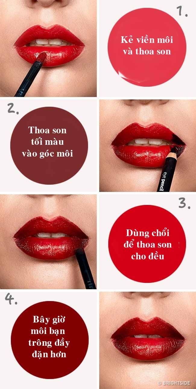6 mẹo trang điểm giúp đôi môi trông đầy đặn, quyến rũ hơn - 1