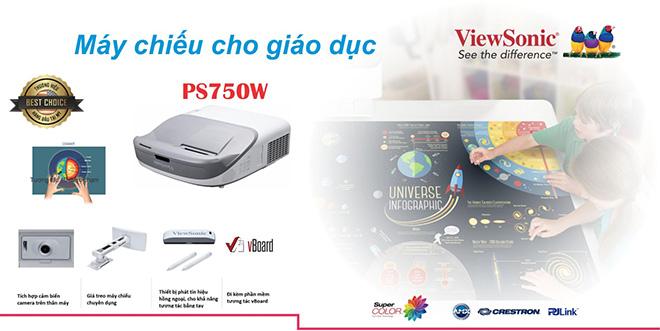 Máy chiếu tương tác ViewSonic PS750W – Tương tác bằng tay - 1
