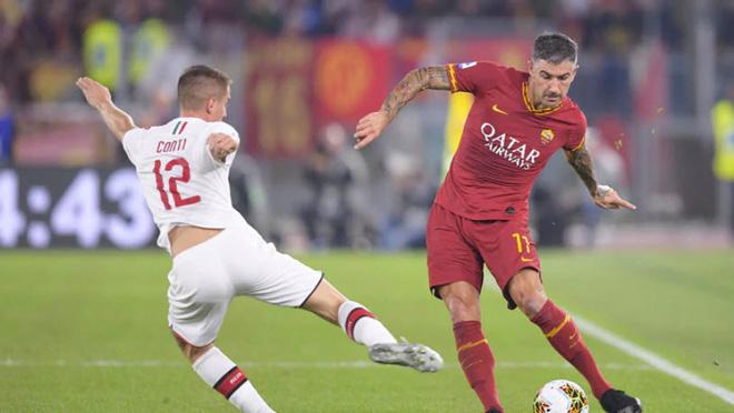 Video highlight trận AS Roma - AC Milan: Mở khóa phút 38, siêu phẩm hạ màn - 1