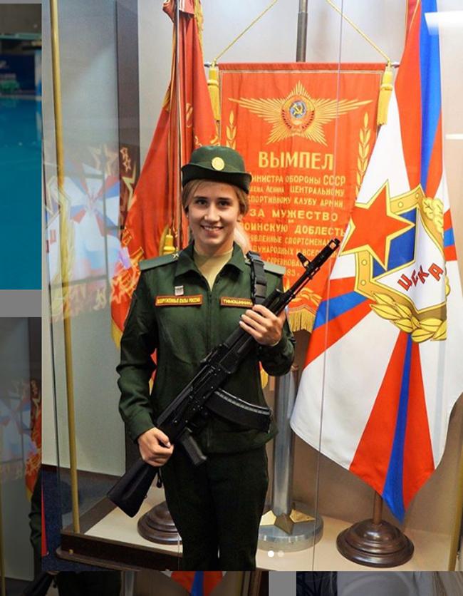 Yulia Timoshinina(nhảy cầu) là một trong số các VĐV hoàn thành xuất sắc nhiệm vụ cho đoàn Nga tại đại hội thể thao quân sự thế giới 2019 kết thúc tại Trung Quốc hôm 27/10.