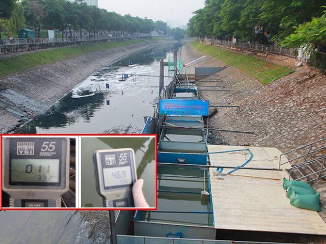 """Nóng: Công bố kết quả xử lý nước sông Tô Lịch và hồ Tây bằng """"bảo bối"""" của Nhật"""