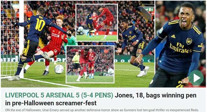 Liverpool – Arsenal tận hiến 10 bàn: Báo chí Anh choáng váng, ví như lễ Halloween - 1