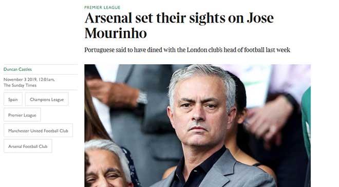 Arsenal mời Mourinho dẫn dắt: Emery sống sót được thêm mấy trận? - 1