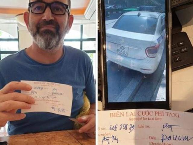 """Lái xe taxi bị tố """"chặt chém"""" khách Tây gần 1 triệu đồng cho quãng đường 5km"""