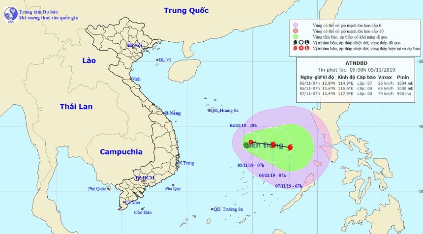 Kịch bản khó lường khi áp thấp nhiệt đới bất ngờ đổi hướng - 1