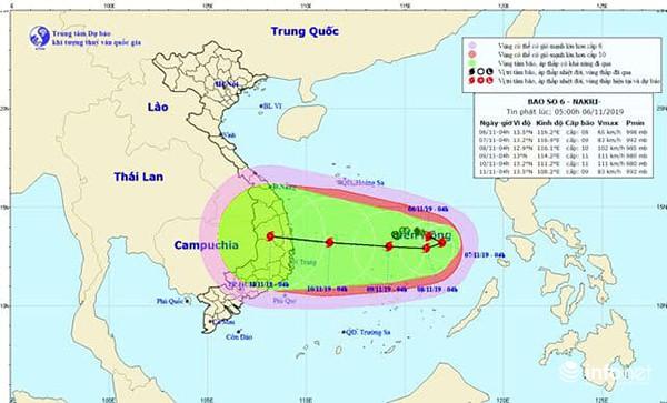 Bão NAKRI (bão số 6) có đường đi rất dị thường và vô cùng nguy hiểm! - 1