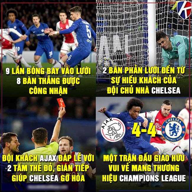 Chelsea có trận hòa kịch tính trước Ajax tại cúp C1 đêm qua.