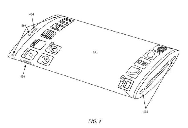 Lộ bằng sáng chế iPhone cong cạnh đẹp hơn Galaxy Note 10+ - 1