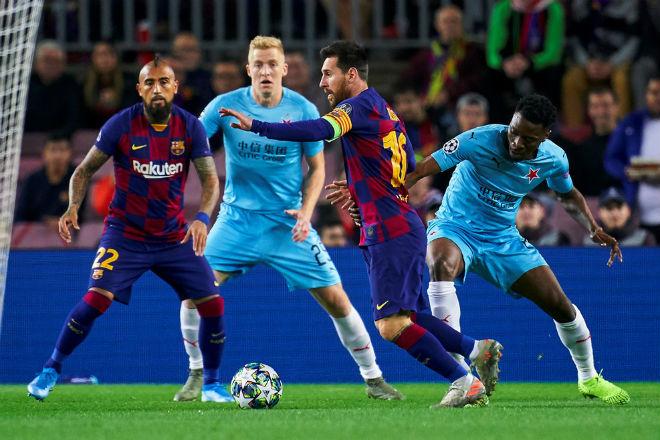 Kết quả bóng đá cúp C1 Barcelona - Slavia Prague: Messi khuấy đảo, vận may khó ngờ - 1