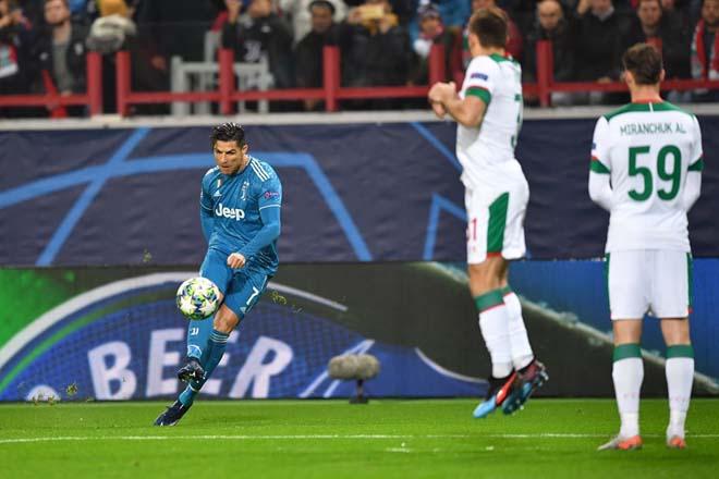 Kết quả bóng đá Cúp C1 Lokomotiv Moscow - Juventus: Dấu ấn Ronaldo, dự bị tỏa sáng phút 90+3 - 1