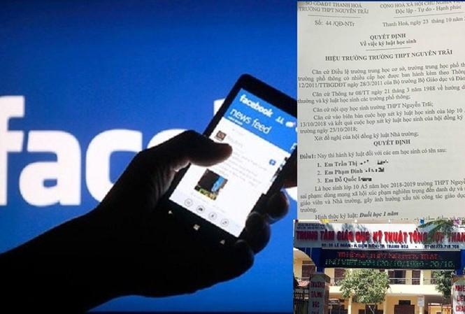 Hiệu trưởng trần tình vụ đuổi học 7 HS nói xấu thầy cô trên facebook - 1