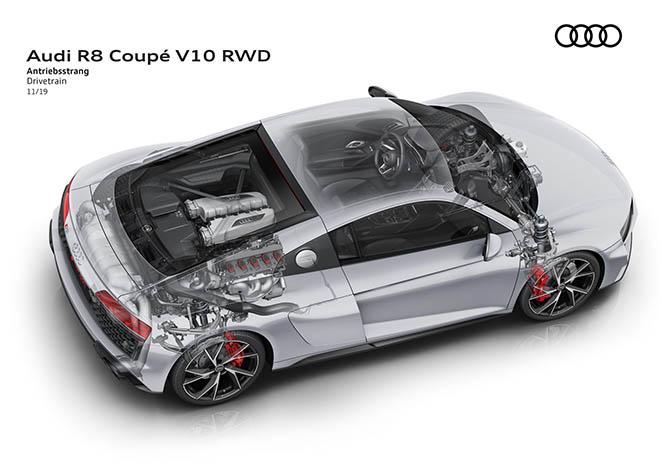 Audi giới thiệu R8 hệ dẫn động cầu sau thay vì 4 bánh quattro - 6