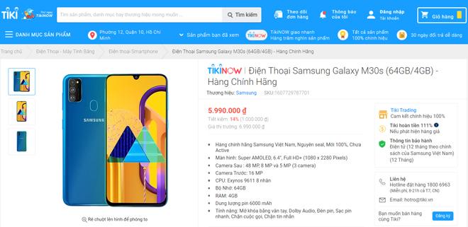 """Sau đợt """"cháy"""" hàng 3.000 máy, Tiki bất ngờ tung ưu đãi cuối cho Samsung M30s - 1"""