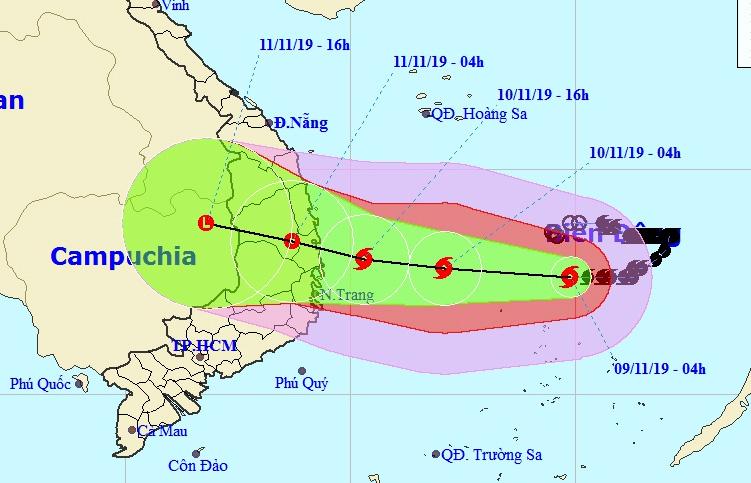 Bão số 6 giật cấp 15 tăng tốc vào Nam Trung bộ, sóng biển cao 7-8 m - 1